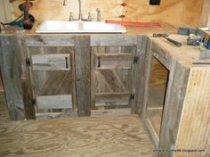 Kitchen Cabinets Made From Reclaimed Salvaged Barnwood :: Hometalk