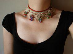 Myriagon ... Freeform Crochet Necklace | Flickr - Photo Sharing!