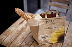 Sometimes a picnic just be brought in a simple paper bag, nothing elaborate.