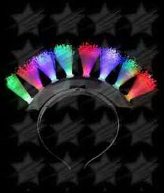 Our LED fiber optic mohawk look awesome both at night and during the day for any…