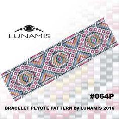 Peyote bracelet pattern, peyote pattern, stitch pattern, pdf file, pdf pattern, #064P by LunamisBeadsPatterns on Etsy