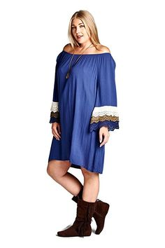 Velzera Off The Shoulder Crochet Tunic Dress Boho Chic Plus Size Crochet Tunic, Body Shapes, Boho Dress, Tunics, Boho Chic, Off The Shoulder, Tunic Tops, Plus Size, Apple