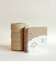Coptic Book with Doily
