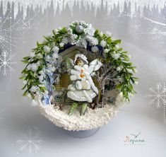 Christmas decorations for the interior. Miniature