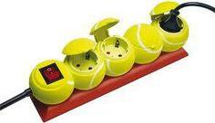 nice! Tennis ball themed surge protector