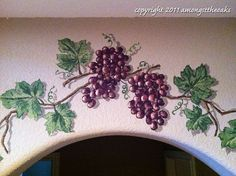 painting grape vines - Google Search Grape Painting, Mural Ideas, Watercolour Painting, Art Boards, Cement, Grape Vines, Murals, Playroom, Stained Glass