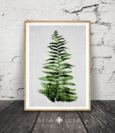 Botanical Wall Art Print Fern Leaf Tropical Decor by lilandlola