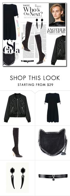 """""""Only back"""" by icedoll ❤ liked on Polyvore featuring Givenchy, STELLA McCARTNEY and Fallon"""