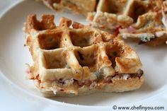 Vegetable dosa waffles ( ok, ell not exactly Indian.... But a perfect fusion.... I haven't made these, but think they sound amazing )