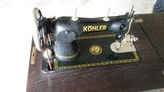 Nähmaschine Historisch Von Köhler In In Obersteinenberg (Kohler Sewing  Machine) Back