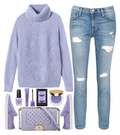 """""""street style"""" by ecem1 ❤ liked on Polyvore featuring Rebecca Taylor, Current/Elliott, Just Cavalli, OPI, Bourjois, Urban Decay, Isaac Mizrahi, women's clothing, women and female"""
