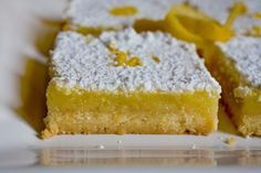 Lemon Bars - EatingWell.com // I doubled the filling recipe because it seemed very thin. Also, because of that, double the cooking time; otherwise they are very gooey--though still very good. :) This is also very sweet and tangy, but who doesn't love that??