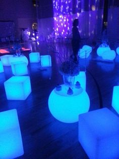 Illuminated rock candy centerpiece custom made for winter - Blue day celebration ideas ...