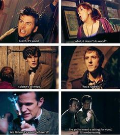 the sonic screwdriver does not do wood