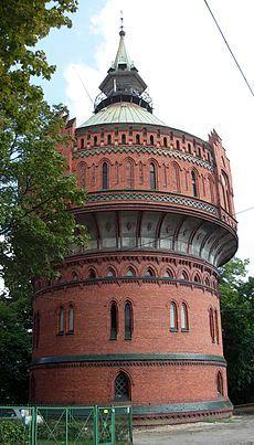 Neo-gothic, historic tower in Bydgoszcz