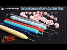 HOW TO: Use Paper Quilling Split / Slotted Tool - JK Arts 459 - YouTube