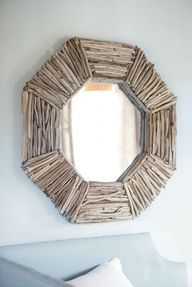 wood around a mirror