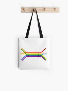 'Transit Pride' Tote Bag by Charlie Care Hard Wear, Poplin Fabric, My Design, Pride, Reusable Tote Bags, Stuff To Buy