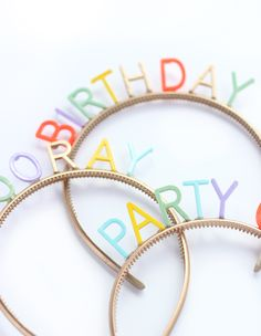 DIY birthday party headbands