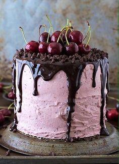 Apple Cinnamon Cake, Apple Coffee Cakes, Chocolate Cherry Cake, Chocolate Ganache, Food Cakes, Cupcakes, Cupcake Cakes, Cake Recipes, Dessert Recipes