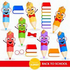 Regreso a clipart de escuela lápices Imágenes Prediseñadas