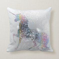 Unicorn Cushion, Unicorn Pillow, Unicorn Bedroom, Unicorn Rooms, Mermaid Pillow, Cute Pillows, Decorative Throw Pillows, Scatter Cushions, Cricut