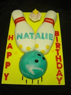 Bowling Cake By randell on CakeCentral.com