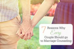 """7 reasons marriage counseling is healthy even if you're marriage isn't """"in trouble."""" Well said!"""