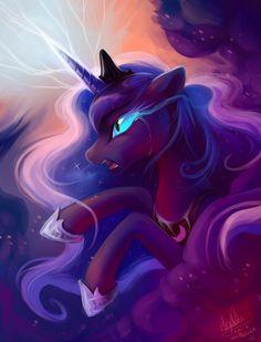 Just Princess Luna c: --- Art (c) meLuna (c) Hasbro The night will last forever! My Little Pony Princess, Mlp My Little Pony, My Little Pony Friendship, Princesa Celestia, Celestia And Luna, Minecraft Pixel Art, Minecraft Skins, Minecraft Buildings, Nightmare Moon