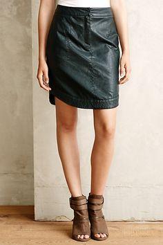 Rounded Vegan Leather Skirt - anthropologie.com #anthrofave