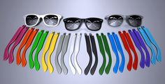 Very cool product! You can pick the color of the arms, mix and match because they are magnetic! SnapShades: customizable, magnetic sunglasses   Crowd Supply