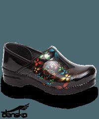 Dansko Professional Scatter Floral Patent Leather Clog