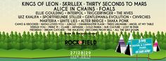 Rock-A-Field Drops 2014 Lineup With Kings of Leon, Alice in Chains, Skrillex - Music Festival Junkies