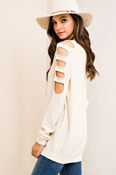 3f8c42bb4 Brylee Ivory Open Shoulder Sweater PRE-ORDER - The Coral Cactus Boutique  Outfits Spring 2017