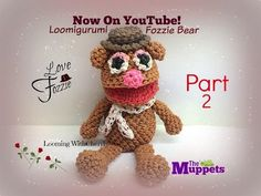 Rainbow Loom FOZZIE BEAR (Part 2 of 2) Loomigurumi Amigurumi Hook Only Лумигуруми - YouTube