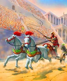 During Pax Romana Romans celebrated 130 holidays as well as teams of charioteers competing in races in the circus maximus. Other holidays crowds watched gladiators. Rome History, Ancient History, Course De Chars, Chariot Racing, Roman Chariot, Roman Gladiators, Les Runes, Circus Maximus, Roman Warriors
