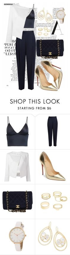 """Untitled #315"" by ivana-j ❤ liked on Polyvore featuring T By Alexander Wang, The Row, Plein Sud Jeanius, Christian Louboutin, Chanel, Charlotte Russe and Ippolita"