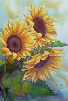 Large+Sunflower+Painting | visit etsy com