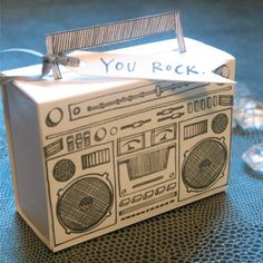 D-Sharp-Letterpress-Boom-Box-Paper-Candy-Container