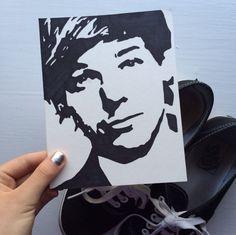 Louis Tomlinson One Direction pop art by SamsPopArt on Etsy