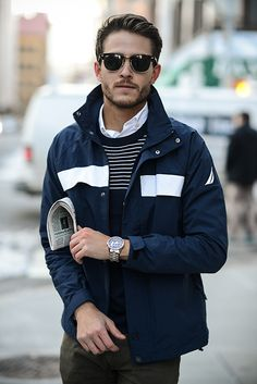 Bold stripes and great layers as seen on Adam Gallagher