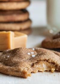 Brown Butter Salted Caramel Snickerdoodles are so moist and gooey!