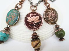 2012 Canadian Penny Necklace with Stone