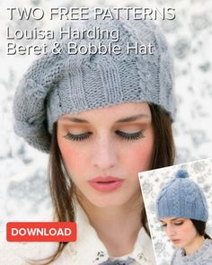 Two free Louisa Harding patterns: exclusive Saffron hats