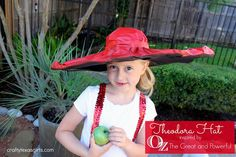 """Crafty Texas Girls: Kids Craft: Theodora Hat inspired by """"Oz the Great and Powerful"""""""