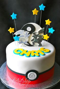Pokemon Cake with an 8 on top instead