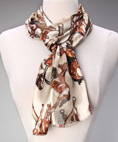 The silky-soft feel of this scarf creates a soothing texture that has every girl living in horse heaven. The western print adds the right amount of giddyup to any ensemble.