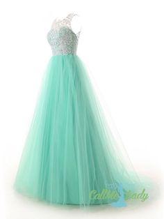 High neck lace prom dresses / evening dresses - callmelady.com