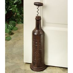 Beau Red Wine Bottle Cast Iron Doorstop · Door StopCast ...