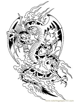 Dragon Coloring Page 10 For Kids And Adults From Peoples Pages Fantasy